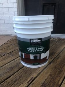 Behr Porch and Patio Paint - Max Waste Services - Just Talkin' Trash - DIY Deck